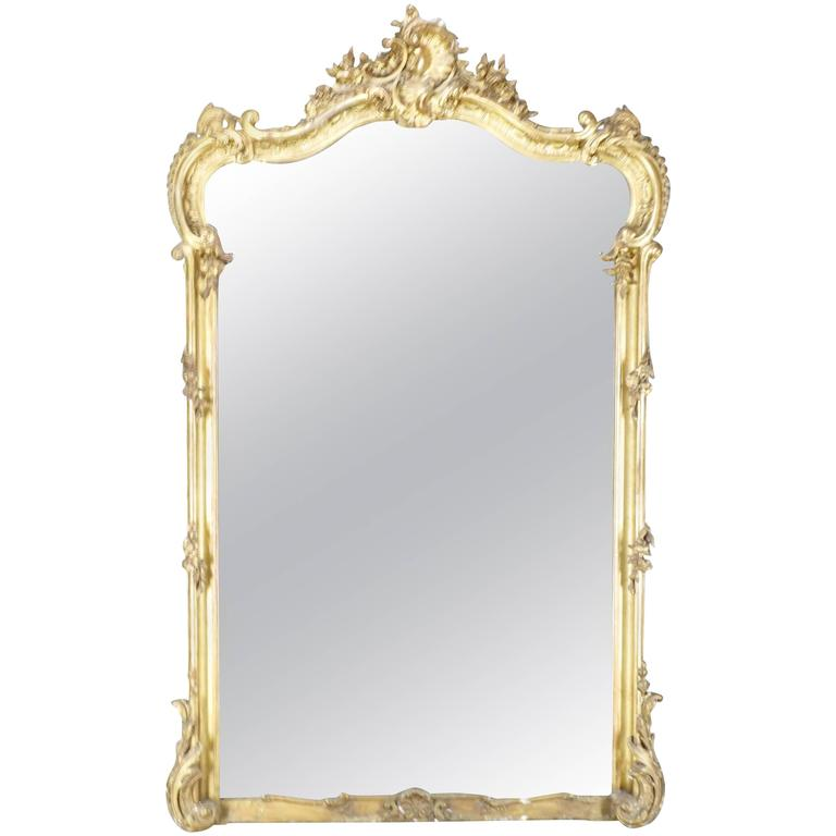 19th Century French Rococo Mirror For