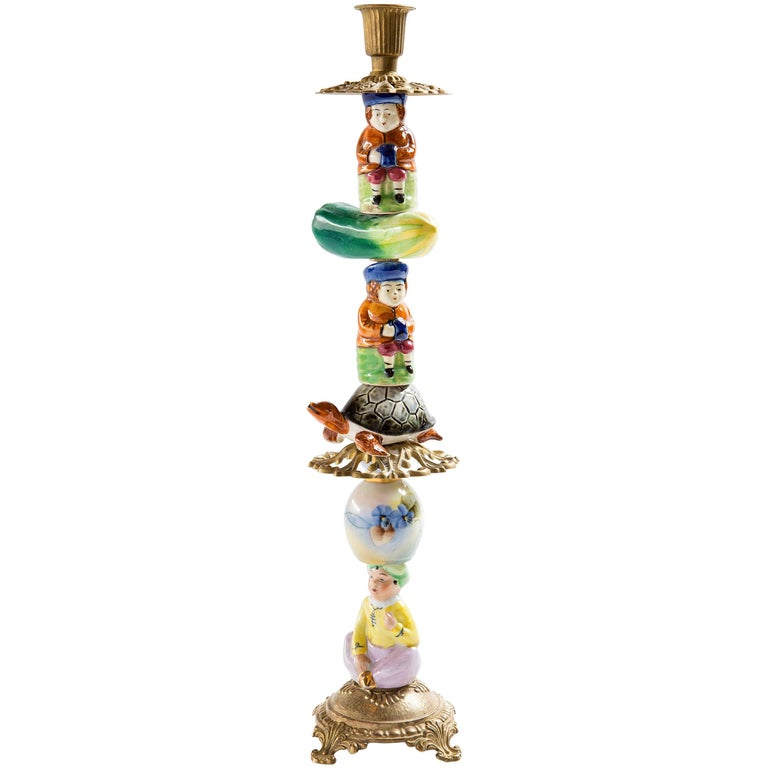 Whimsical, One-of-a-Kind Candlestick For Sale