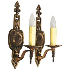 Pair of 1920s Single Sconces