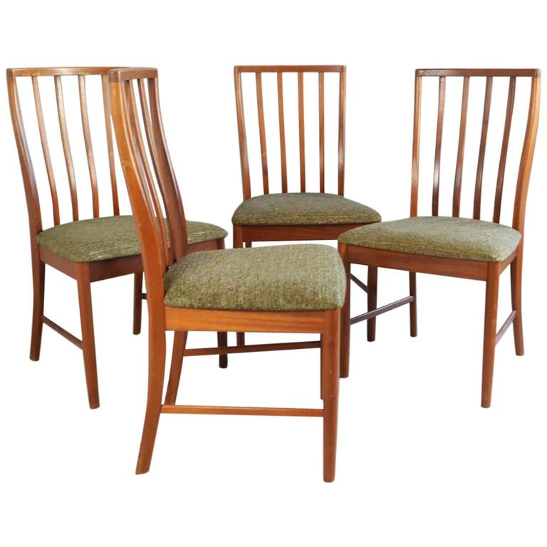 1970s mid century g plan fresco high backed dining chairs for G plan dining room chairs