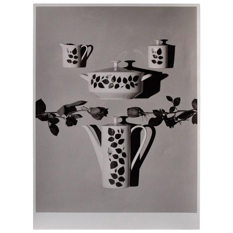 Willi Moegle Still Live Silver Gelatin Print Arzberg 2050 by Loeffelhardt