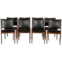 Teak Dining Chairs, Set of Eight