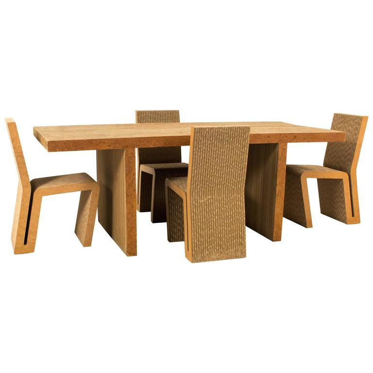 Iconic Easy Edges Dining Room Table by Frank Gehry for Vitra  2000 1