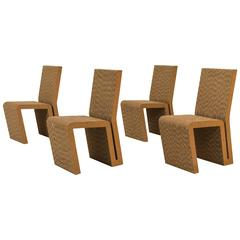 Iconic Set of Four Easy Edges Chairs by Frank Gehry for Vitra