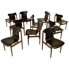 Rare and Large Set of Ten IK-Chairs by Inger Klingenberg for Fristho, 1960s