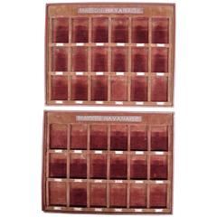 "Vintage French Gentleman's Shop Cufflink Presentation Boxes ""Maison Havanaise"""
