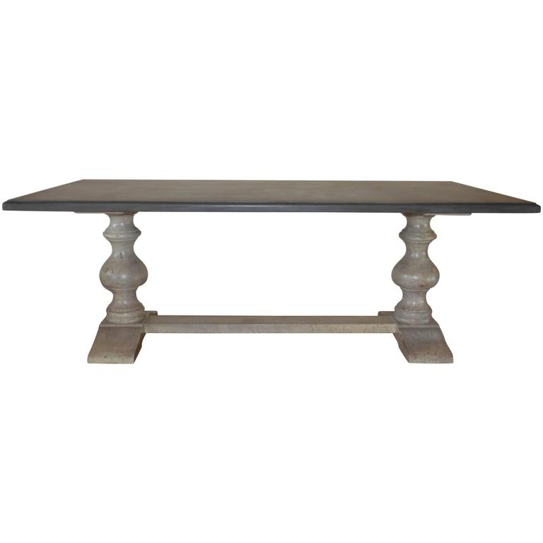 Painted Long Wooden Dining Table Made in Italy