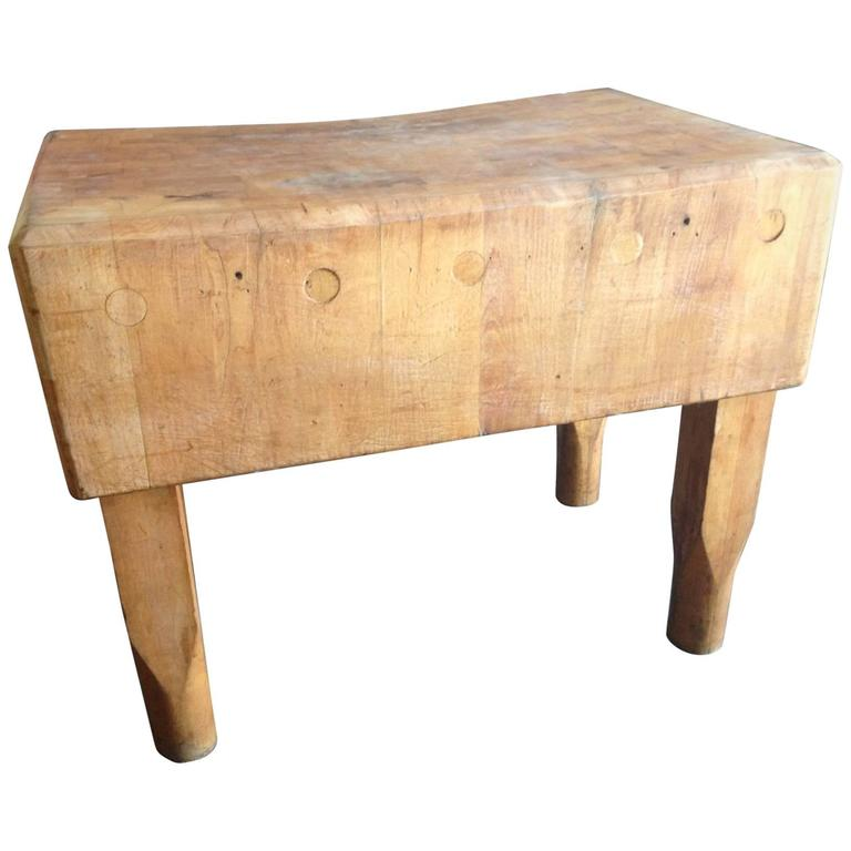 butcher block from new york meat market early 1900s for