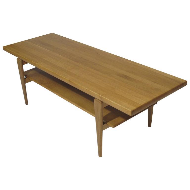 Danish Solid Oak Coffee Table