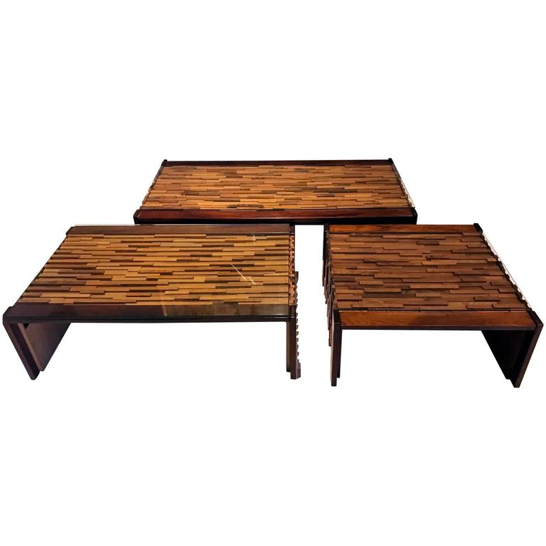 Set of Brazilian Tables by Percival Lafer