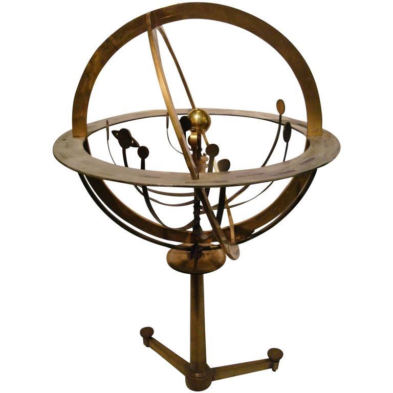 Fantastic Zodiac Armillary Sphere, Galaxy Globe, France 1