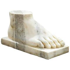 Large Carved Marble Foot