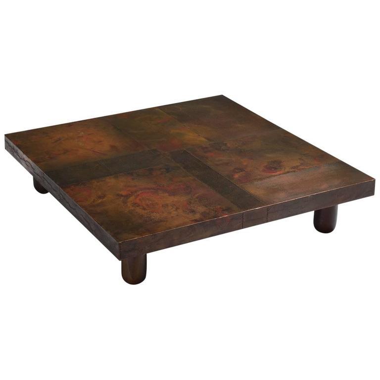 Lorenzo Burchiellaro Coffee Table In Copper For Sale At