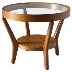 Halabala Side Table in Oak