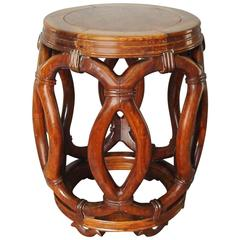 19th Century Chinese Hardwood Stool or End Table