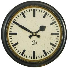 Large C.T. Wagner Industrial or Station Wall Clock