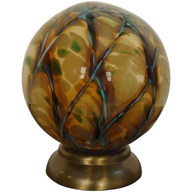 Odd Mid-Century Modern Sphere Lamp