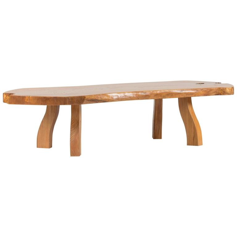 Pine Slab Coffee Table from C. A. Beijbom