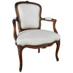 Late 19th Century French Rococo Fauteil