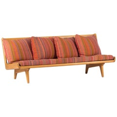 Leather Webbing Sofa by Gustaf Hiort Af Ornäs