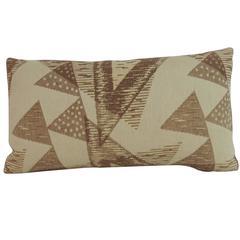 Vintage Deco Style Woven Bolster Decorative Pillow