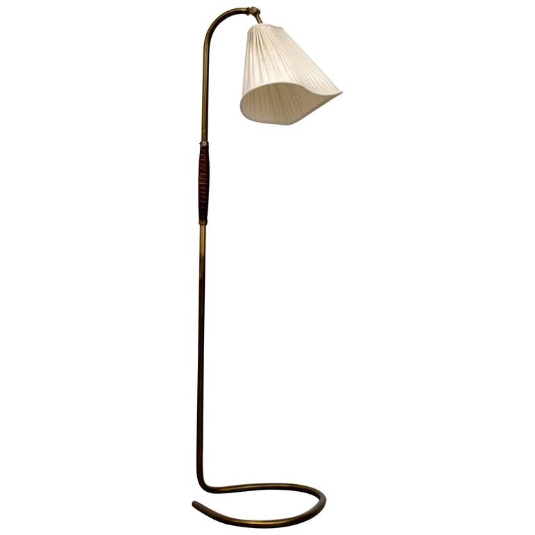 Brass Floor Lamp by Hans Bergström, 1940s