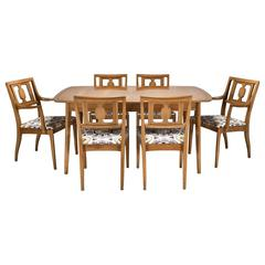 Butternut Dining Table and Chairs from the Meridian Collection for Drexel