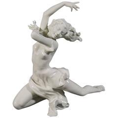 Hutschenreuther 'Finale' Porcelain Female Dancer Sculpture by Artist Karl Tutter