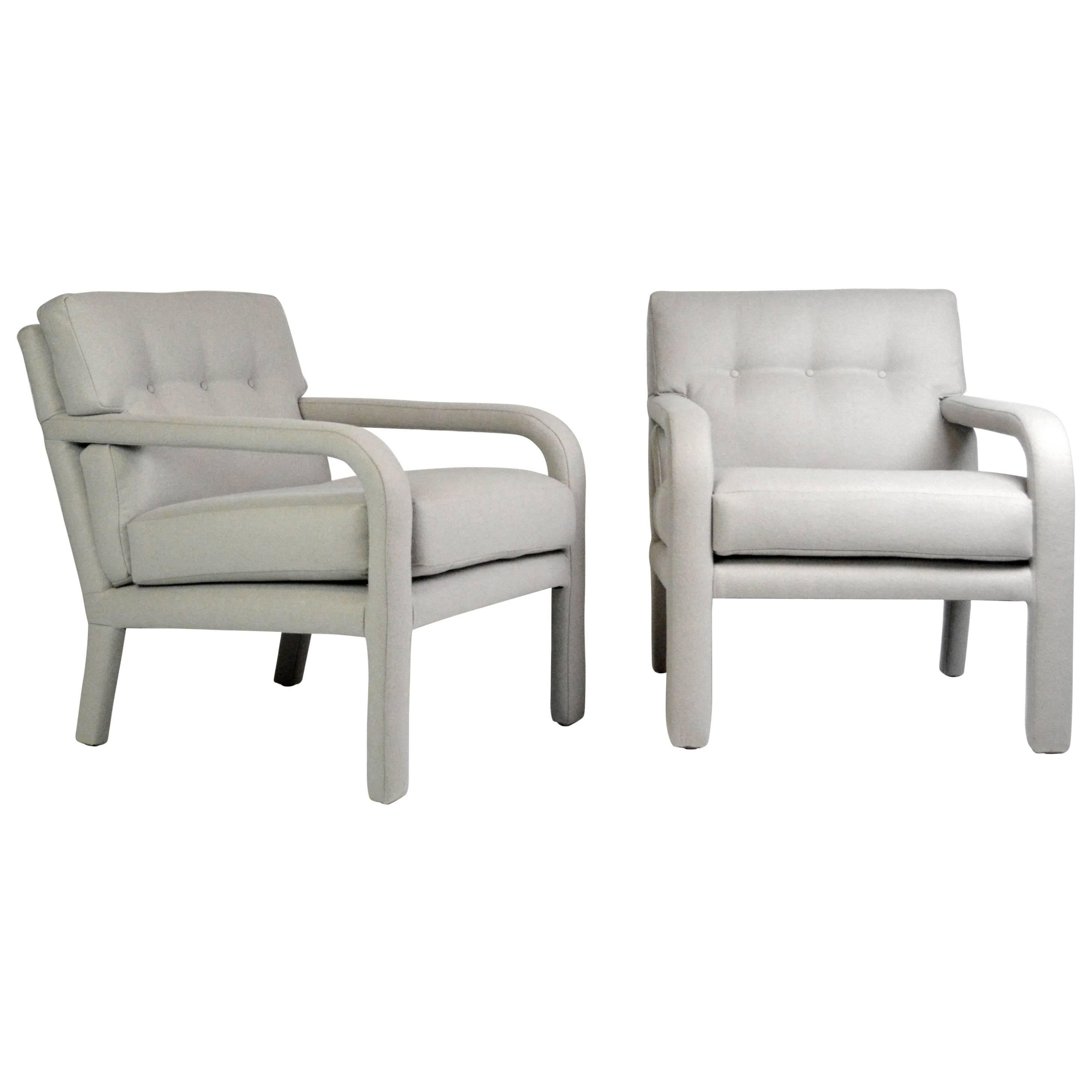 Pair of Fully Upholstered Armchairs