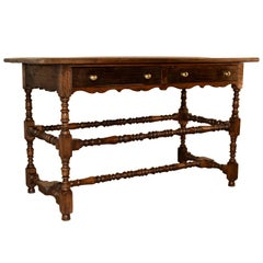 19th Century, French Oak Hall Table