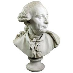 Antique Oversized French Bust after J.R. Perronet by F. Masson, circa 1880
