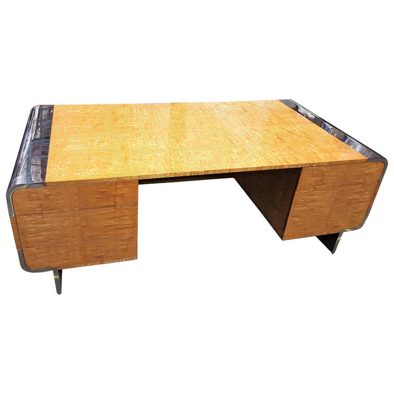 Mid-Century Executive Desk by Leon Rosen for Pace Collection