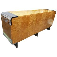 Mid-Century Tamo Manchurian Ash Credenza by Leon Rosen for Pace Collection
