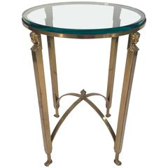 French Empire Style Brass Side Table Manner of Maison Jansen