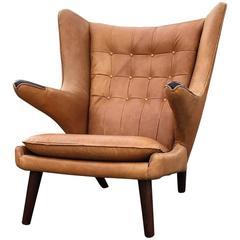 Hans Wegner Papa Bear Wingback Lounge Chair