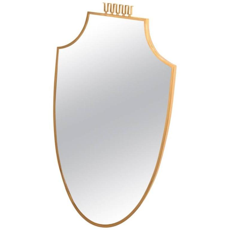 Italian Mid-Century Wall Mirror Bass Design