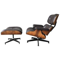 Herman Miller Eames Rosewood Lounge and Ottoman