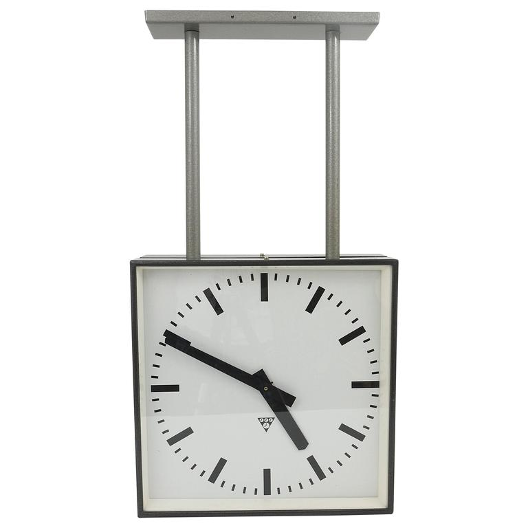 Very Double Sided Two Face Train Station Clock For