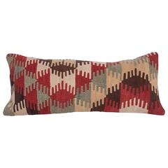 Antique Pillow Made Out of a 19th Century West Anatolian Kilim Fragment