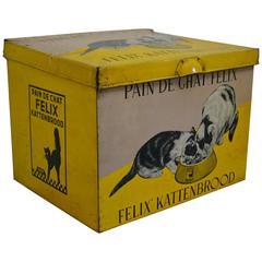 Suberb Tin Box with Felix the Cat