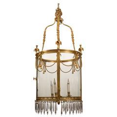 Bronze and Crystal Lantern