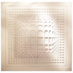 Large Op-Art Style Panel by Studio Design Sifferlin