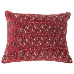 Antique Pillow Made Out of an Early 20th Century Turkmen Tekke Chuval