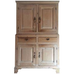 Antique Housekeepers Cupboard Pantry Solid Pine Victorian, 19th Century