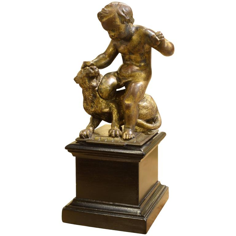 Early 19th Century French Gilt Bronze of Infant Bacchus