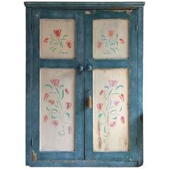 Gorgeous Antique Hall Cupboard Cabinet Solid Pine Victorian, 19th Century Rustic