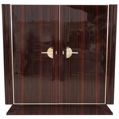Art Deco Style Macassar Cabinet