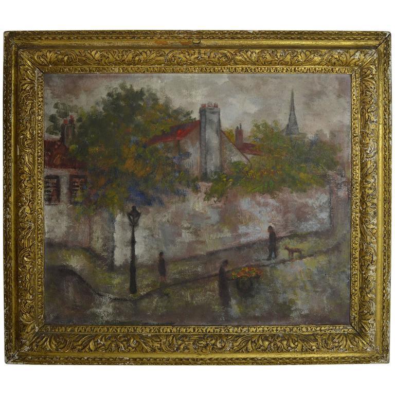 Isaac Lichtenstein. Paris Street Scene, 1924