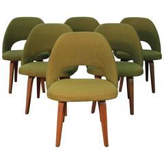 Eero Saarinen for Knoll Executive Side Chairs Walnut Legs, Mid-Century Modern