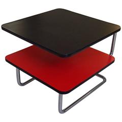 Red Black Bauhaus Low Table